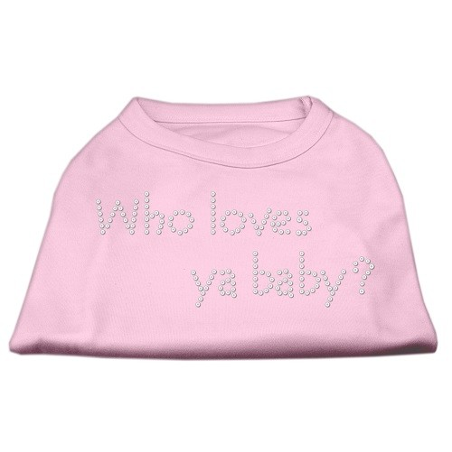 Who Loves Ya? Baby Rhinestone Dog Shirt - Light Pink | The Pet Boutique