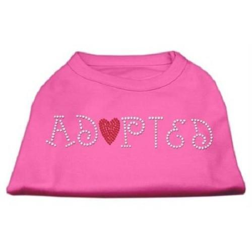 Adopted Rhinestone Dog Shirt - Bright Pink | The Pet Boutique