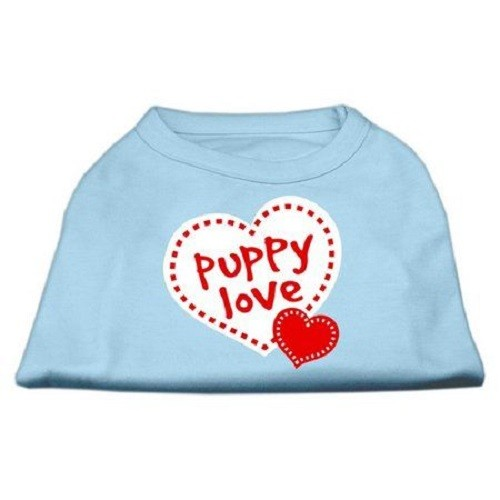 Puppy Love Screen Print Dog Shirt - Baby Blue | The Pet Boutique