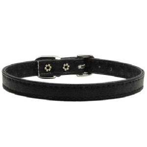 "3/8"" Plain Dog Collar - Black 