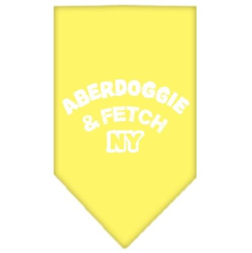 Aberdoggie NY Screen Print Pet Bandana - Yellow | The Pet Boutique