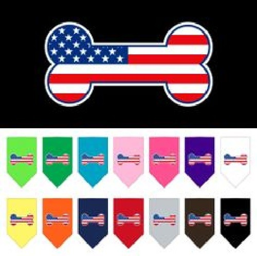 Bone Flag American Screen Print Pet Bandana | The Pet Boutique
