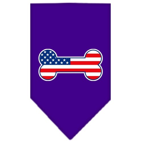 Bone Flag American Screen Print Pet Bandana - Purple | The Pet Boutique