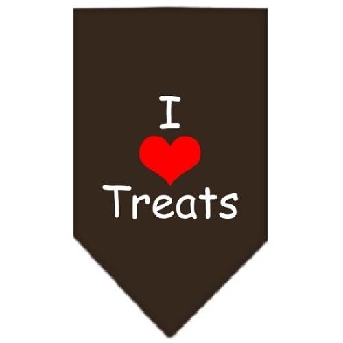 I Heart Treats Screen Print Pet Bandana - Cocoa | The Pet Boutique