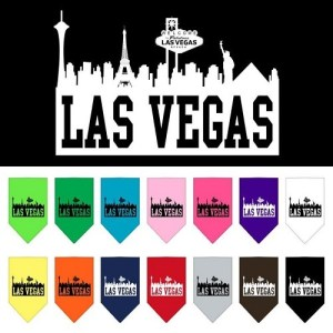 Las Vegas Skyline Screen Print Pet Bandana | The Pet Boutique