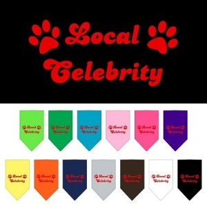 Local Celebrity Screen Print Pet Bandana | The Pet Boutique