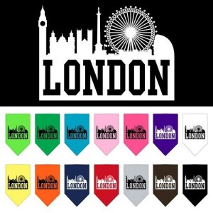 London Skyline Screen Print Pet Bandana | The Pet Boutique