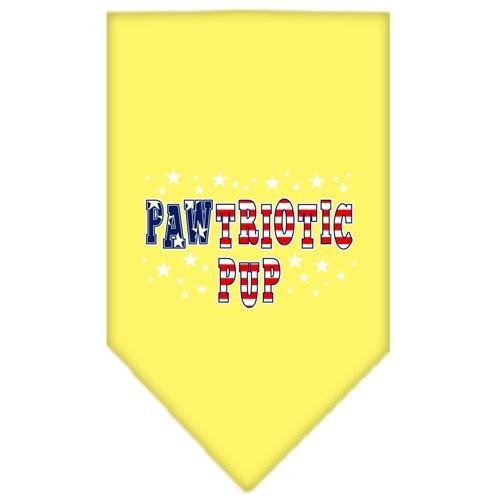 Pawtriotic Pup Screen Print Dog Bandana - Yellow | The Pet Boutique