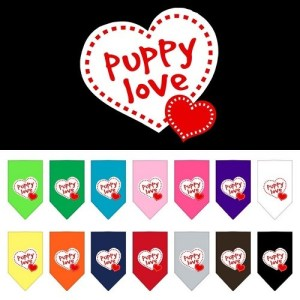 Puppy Love Screen Print Dog Bandana | The Pet Boutique