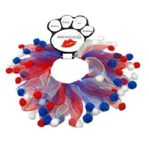 Red, White and Blue Fuzzy Smoocher   The Pet Boutique