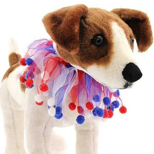 Red, White and Blue Fuzzy Smoocher | The Pet Boutique