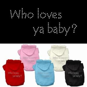 Who Loves Ya Baby_ Rhinestone Dog Hoodie | The Pet Boutique