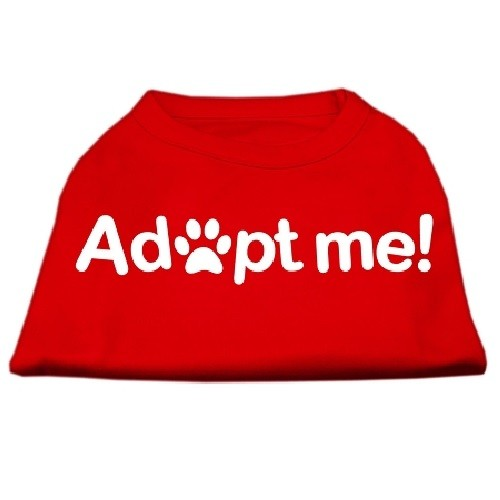 Adopt Me Screen Print Dog Shirt - Red | The Pet Boutique