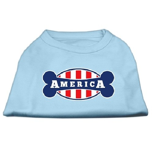 Bonely in America Screen Print Dog Shirt - Baby Blue | The Pet Boutique