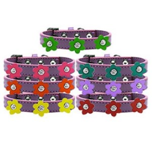 Flower Premium Dog Collar - Lavender | The Pet Boutique