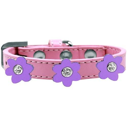 Flower Premium Dog Collar - Light Pink With Lavender Flowers   The Pet Boutique