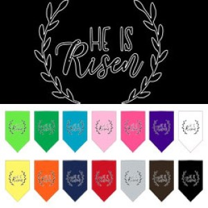 He Is Risen Screen Print Pet Bandana | The Pet Boutique