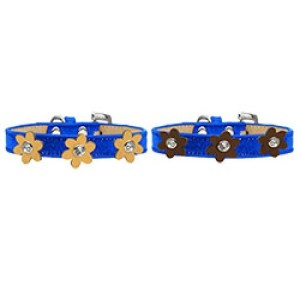 Metallic Flower Ice Cream Dog Collar - Blue | The Pet Boutique
