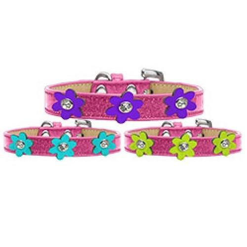 Metallic Flower Ice Cream Dog Collar - Pink | The Pet Boutique