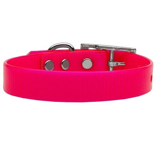 Plain Tropical Jelly Dog Collar - Pink | The Pet Boutique