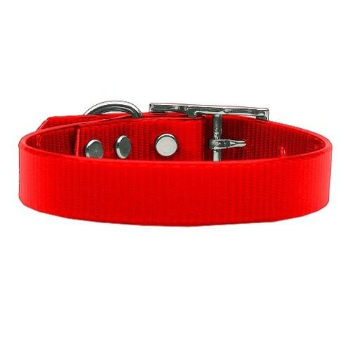 Plain Tropical Jelly Dog Collar - Red | The Pet Boutique