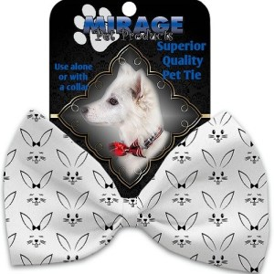 Bunny Face Pet Bow Tie Collar Accessory with Velcro | The Pet Boutique