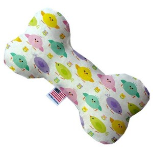 Easter Chickadees Canvas Bone Dog Toy | The Pet Boutique