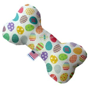 Easter Eggs Canvas Bone Dog Toy | The Pet Boutique