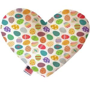 Easter Eggs Canvas Heart Dog Toy   The Pet Boutique