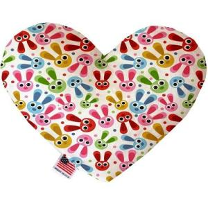 Funny Bunnies Canvas Heart Dog Toy   The Pet Boutique