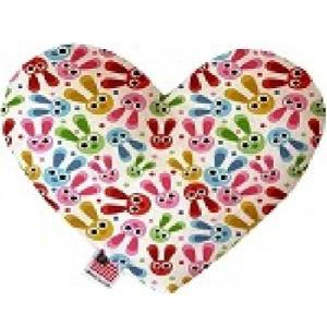 Funny Bunnies Stuffing Free Heart Dog Toy   The Pet Boutique