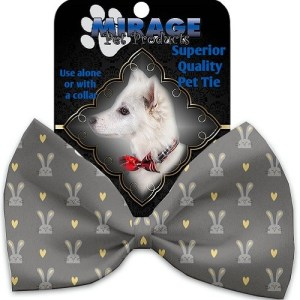 Gray Bunnies Pet Bow Tie   The Pet Boutique