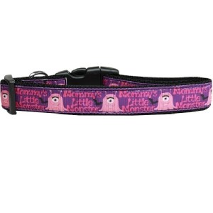 Mommy's Little Monster Nylon Dog Collar | The Pet Boutique