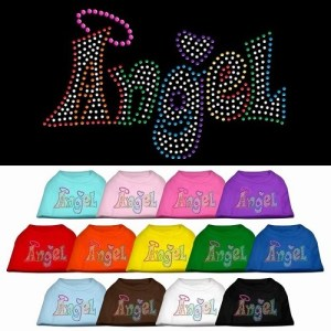 Technicolor Angel Rhinestone Dog Shirt | The Pet Boutique