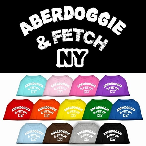Aberdoggie NY Screen Print Dog Shirt | The Pet Boutique