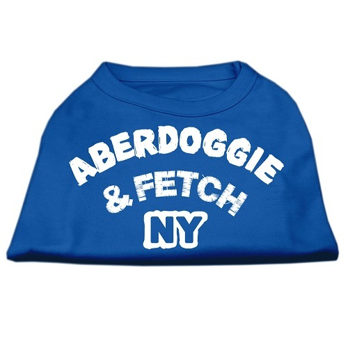 Aberdoggie NY Screen Print Dog Shirt - Blue | The Pet Boutique