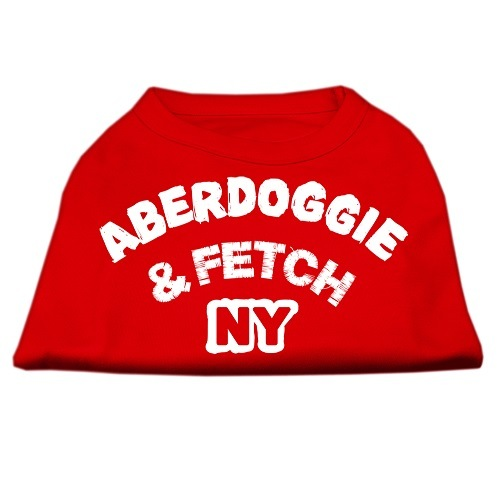 Aberdoggie NY Screen Print Dog Shirt - Red | The Pet Boutique
