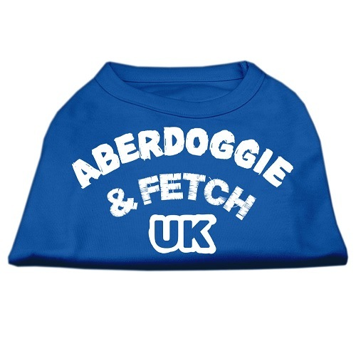 Aberdoggie UK Screen Print Dog Shirt - Blue | The Pet Boutique