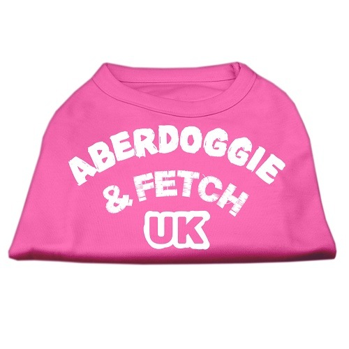 Aberdoggie UK Screen Print Dog Shirt - Bright Pink | The Pet Boutique
