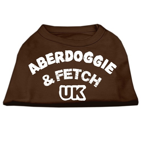 Aberdoggie UK Screen Print Dog Shirt - Brown | The Pet Boutique