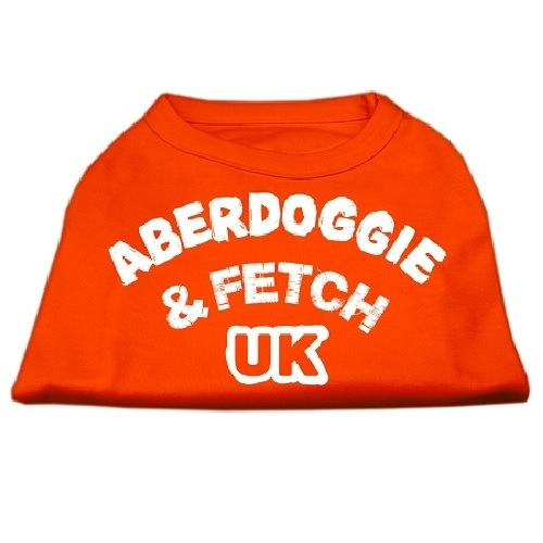 Aberdoggie UK Screen Print Dog Shirt - Orange | The Pet Boutique