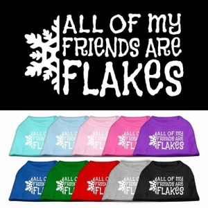 All My Friends Are Flakes Screen Print Pet Shirt   The Pet Boutique