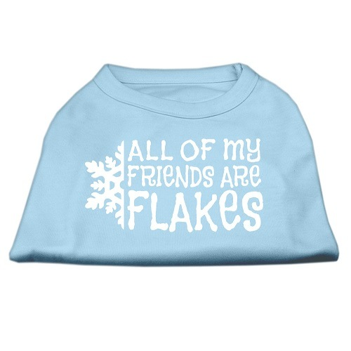 All My Friends Are Flakes Screen Print Pet Shirt - Baby Blue | The Pet Boutique