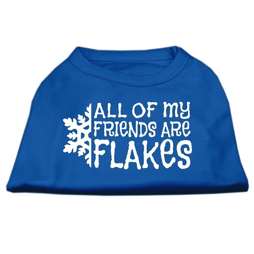 All My Friends Are Flakes Screen Print Pet Shirt - Blue | The Pet Boutique