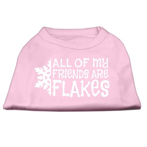 All My Friends Are Flakes Screen Print Pet Shirt - Light Pink | The Pet Boutique