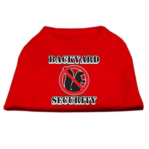 Backyard Security Screen Print Dog Shirt - Red | The Pet Boutique