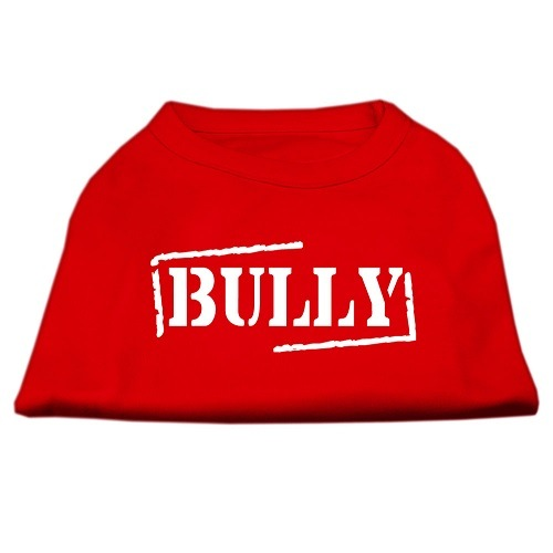 Bully Screen Printed Pet Shirt - Red | The Pet Boutique