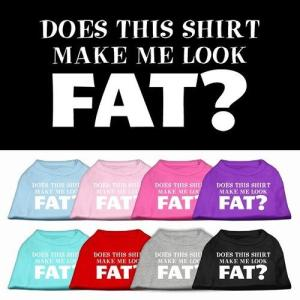 Does This Shirt Make Me Look Fat? Screen Print Pet Shirt | The Pet Boutique