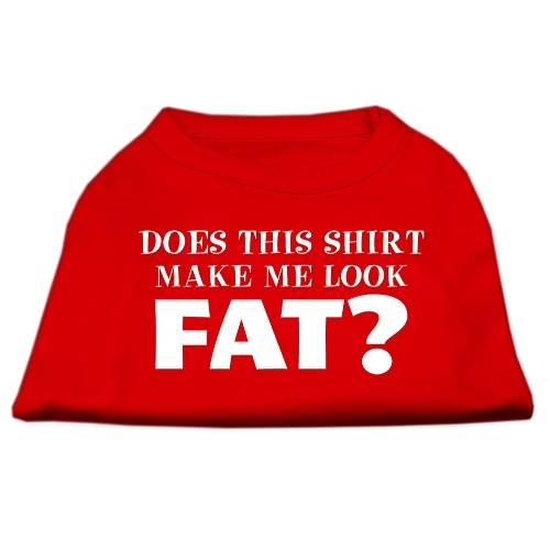 Does This Shirt Make Me Look Fat? Screen Print Pet Shirt - Red | The Pet Boutique