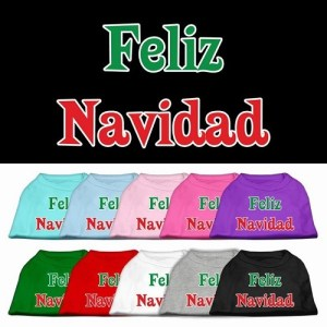 Feliz Navidad Screen Print Pet Shirt | The Pet Boutique